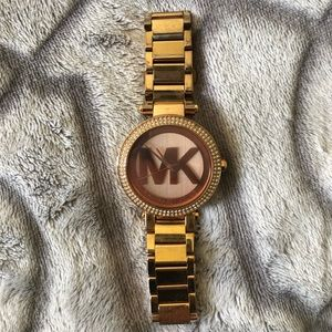 Authentic Michel Kors Rose Gold Watch